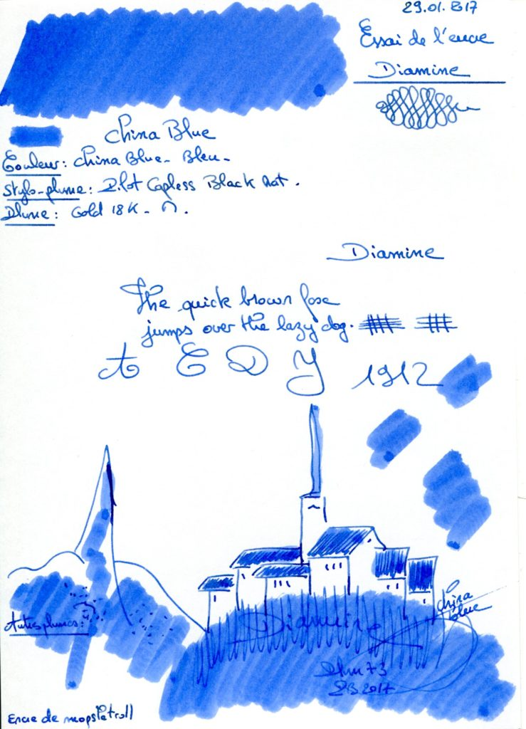 China Blue Ink Diamine