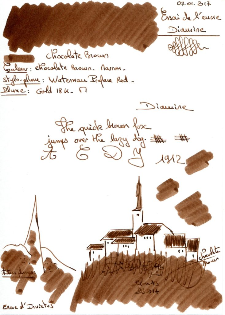 Chocolate Brown Ink Diamine