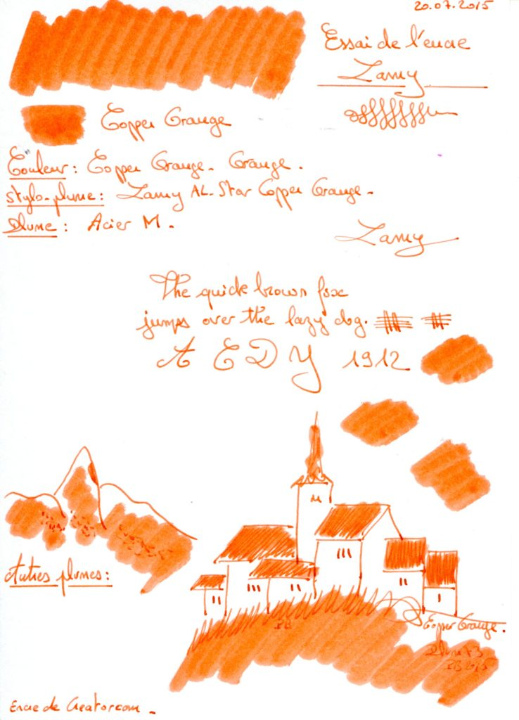 Copper Orange Ink Lamy