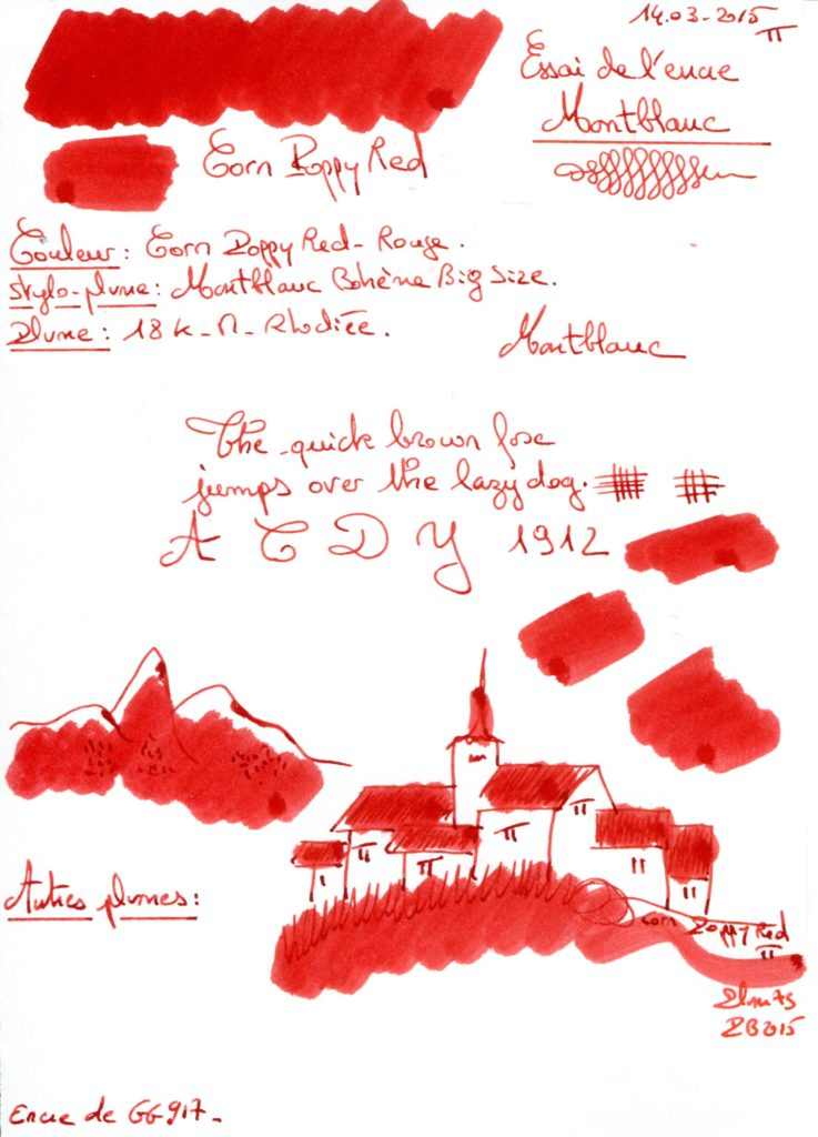 Corn poppy red Ink Montblanc