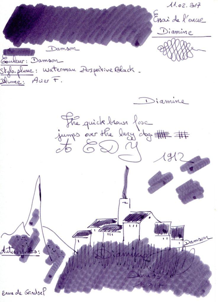 Damson ink Diamine