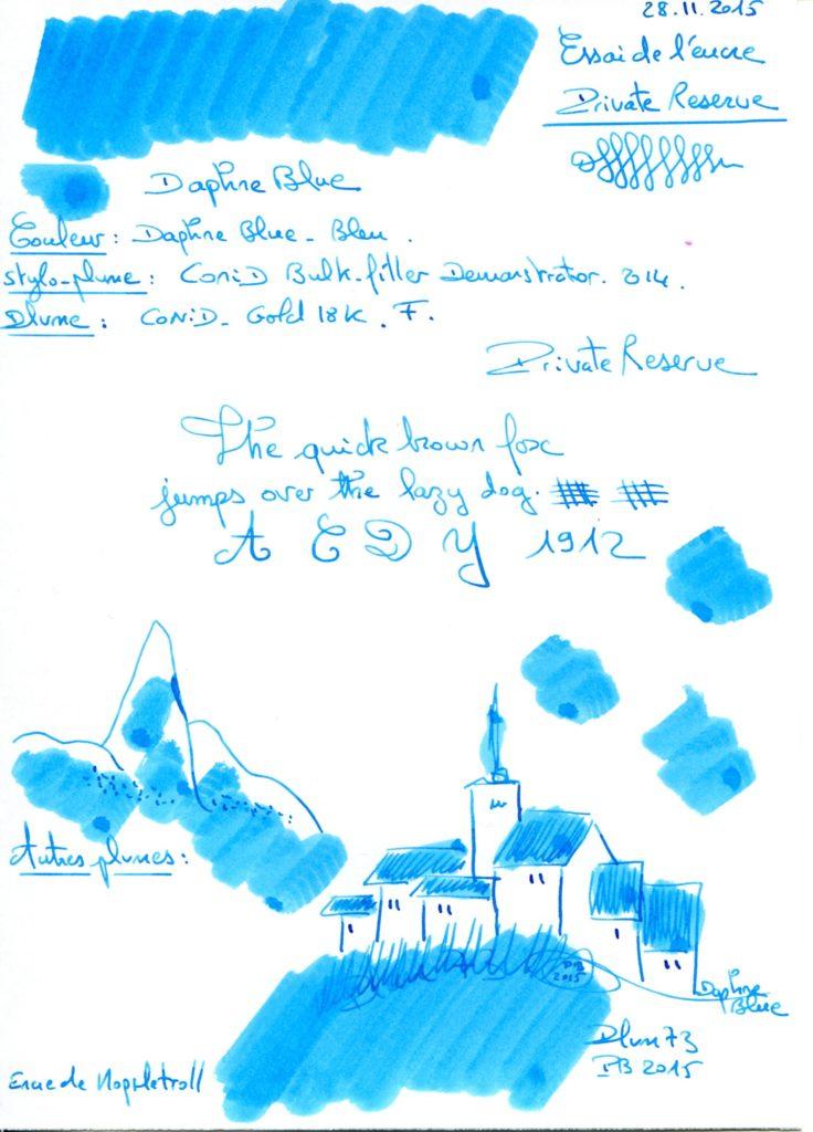 Daphne blue Ink Private reserve