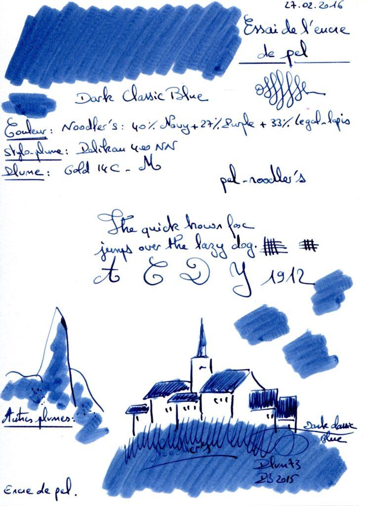 Dark Classic Blue Ink pel