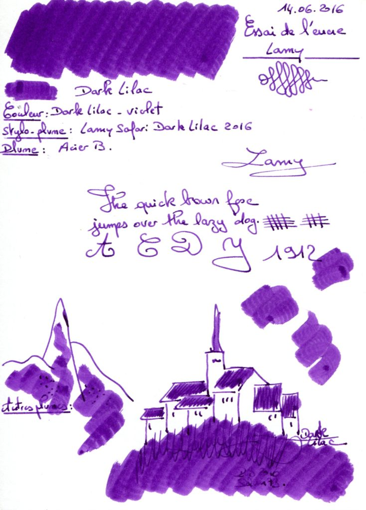Dark Lilac Ink Lamy