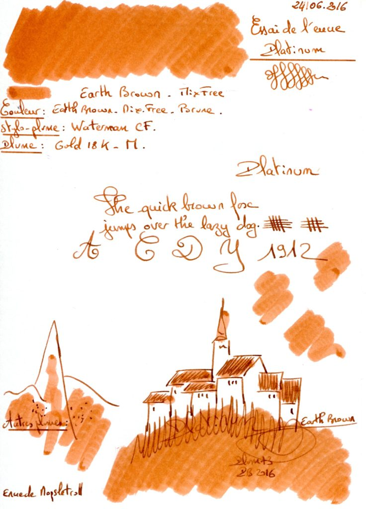 Earth brown ink Platinum