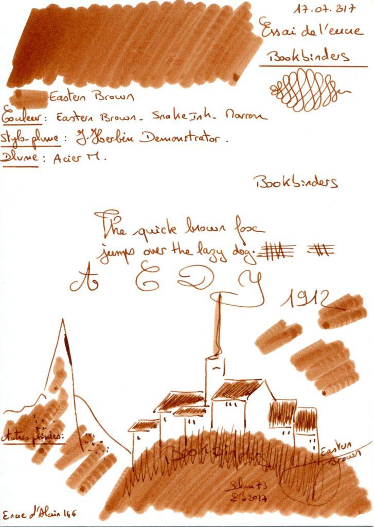 Eastern Brown Ink Bookbinders