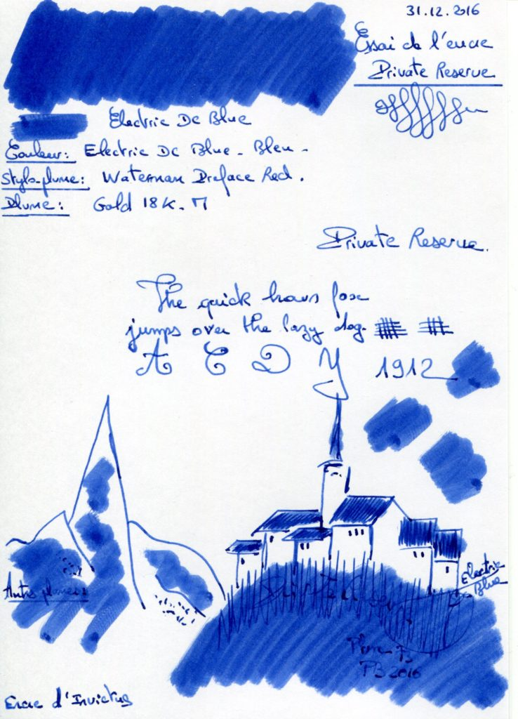 Electric DC Blue Ink Private Reserve