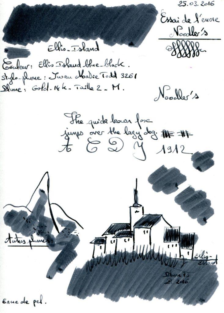 Ellis Island Ink Noodler's