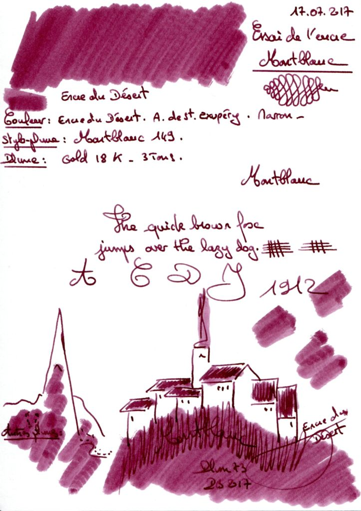 Encre du Désert St Exupery Ink Montblanc