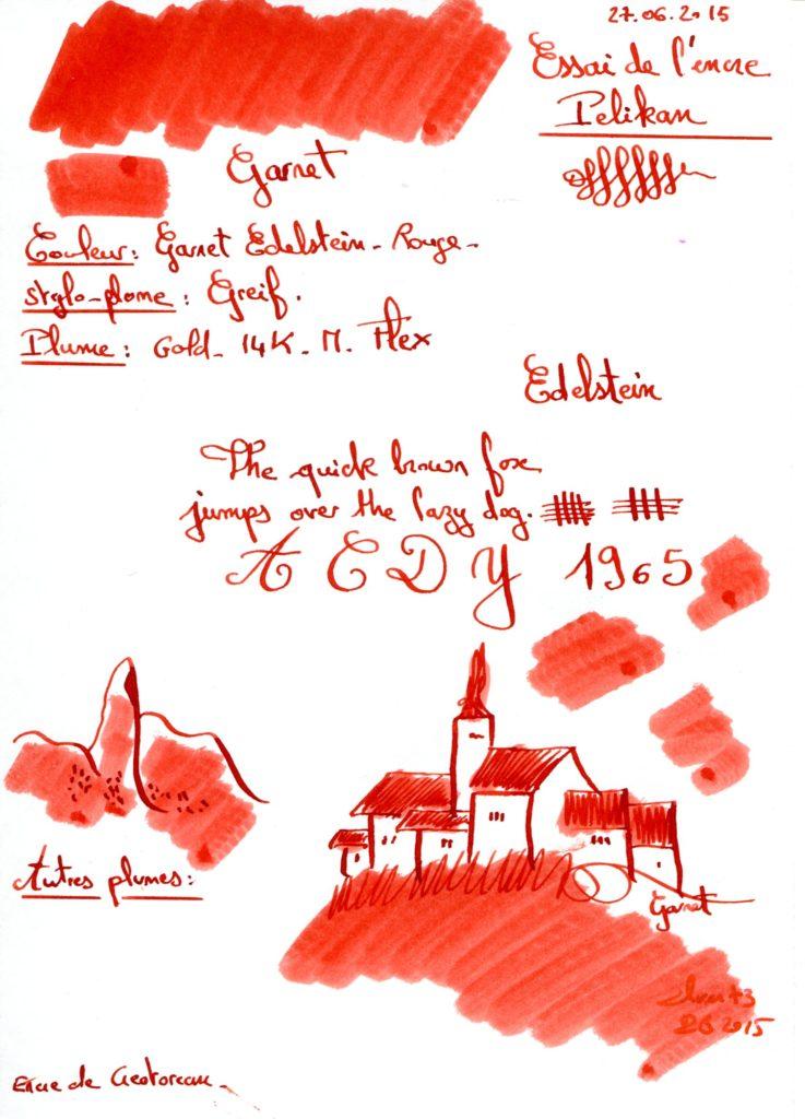 Garnet Ink Edelstein