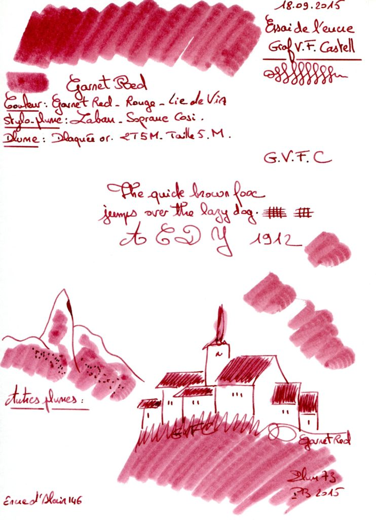 Garnet red Ink Graf VF Castell