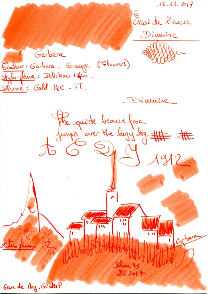 Gerbera Ink Diamine