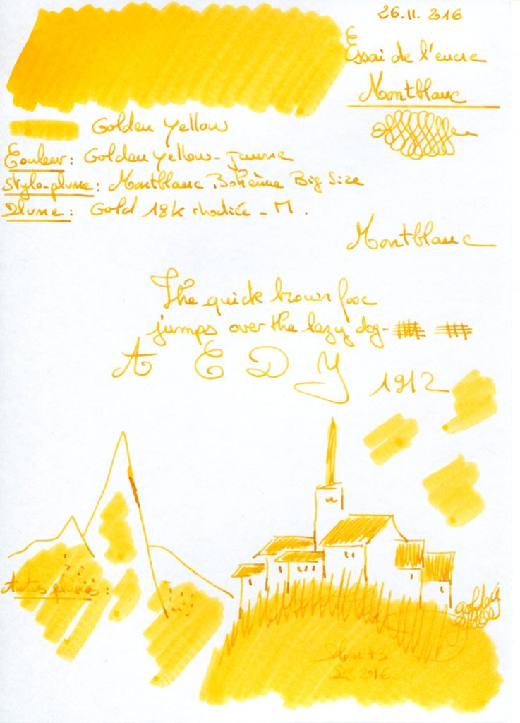 Golden Yellow Ink Montblanc