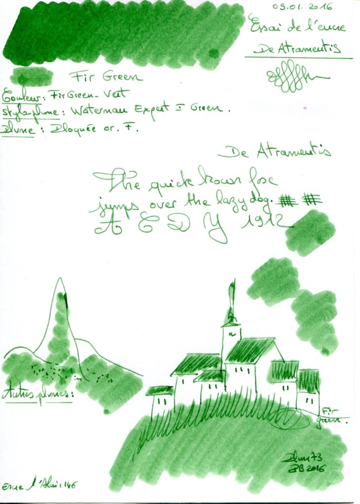 Green Fir Ink De Atramentis