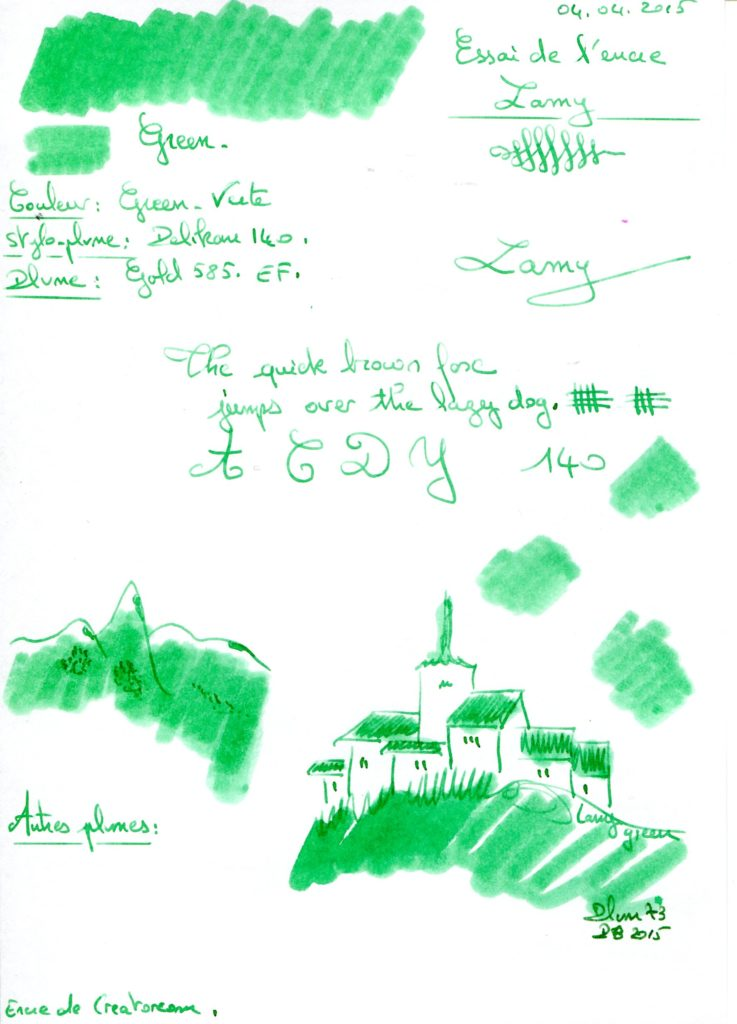 Green Ink Lamy