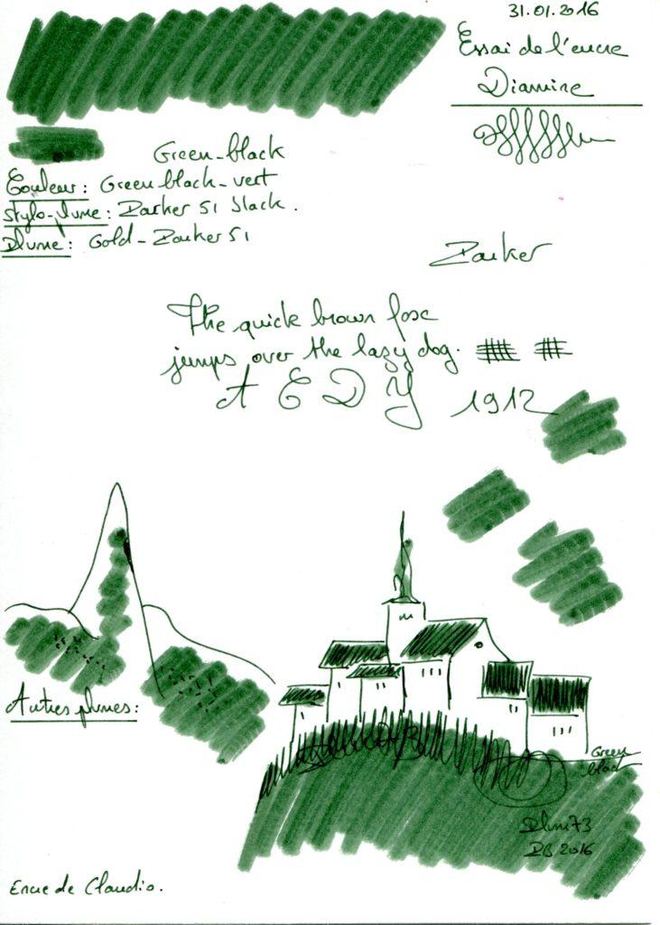 Green black Ink Diamine