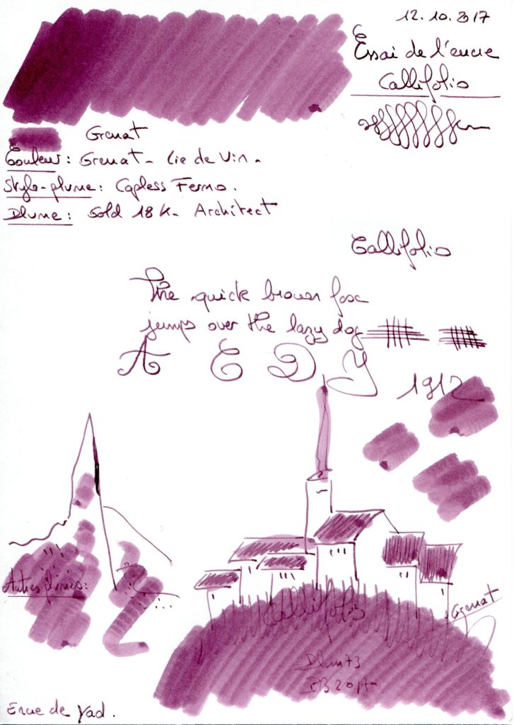 Grenat Ink Callifolio