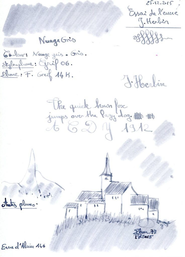 Gris Nuage Ink J Herbin