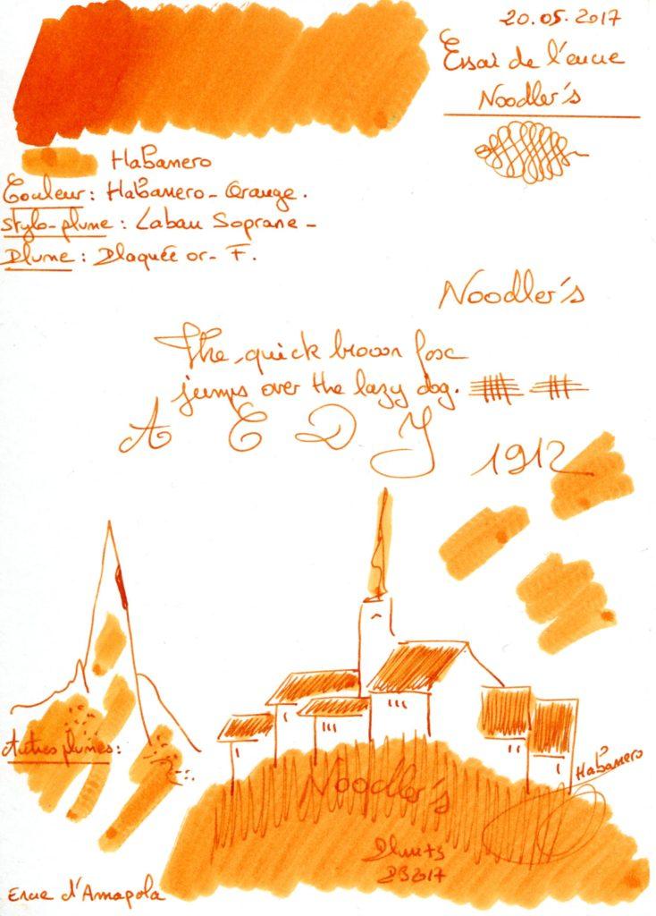 Habanero Ink Noodlers