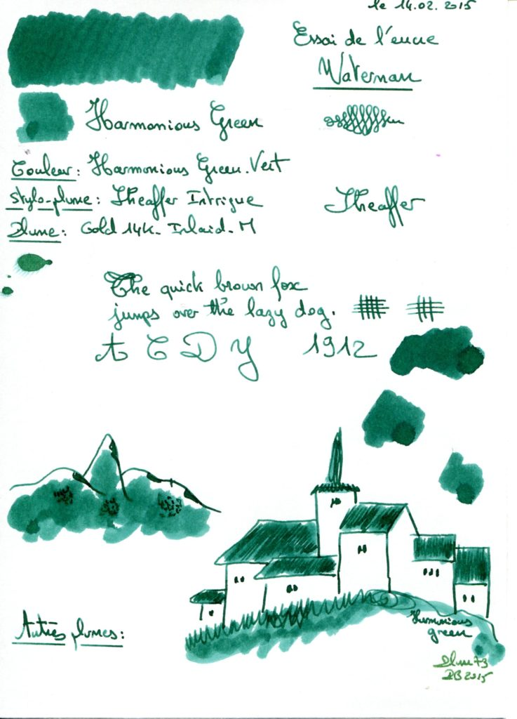 Harmonius green Ink Waterman