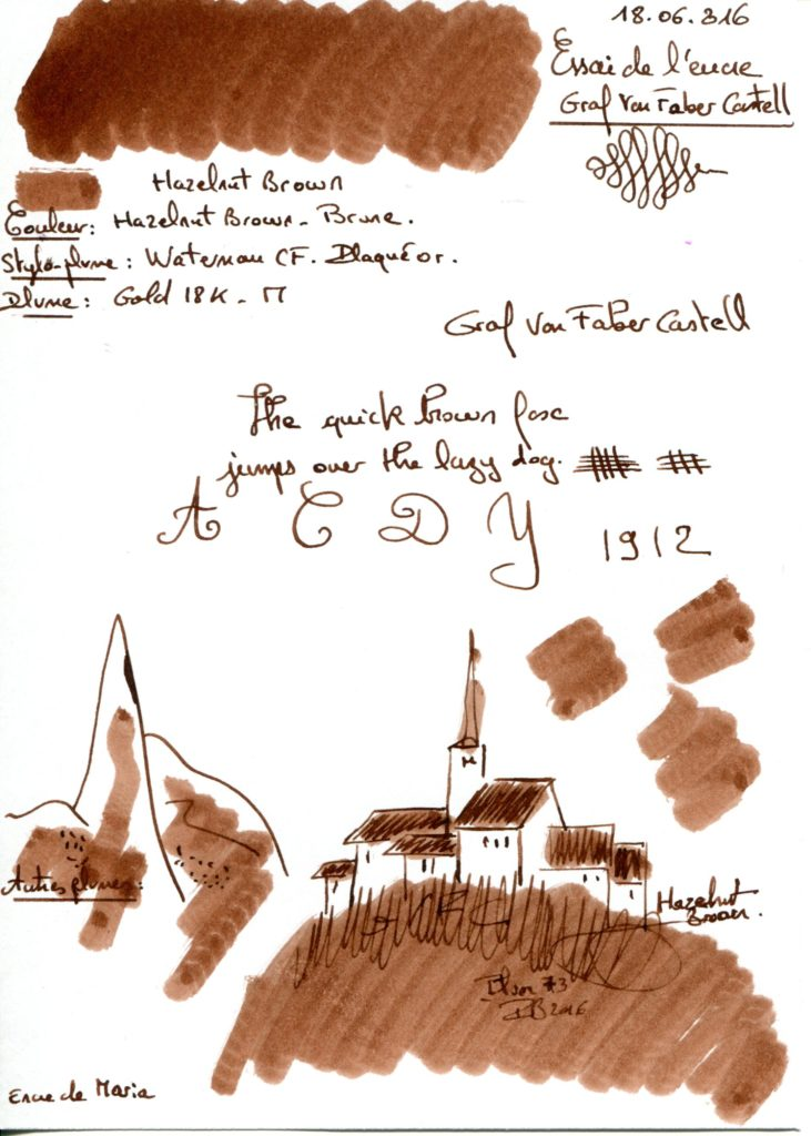 Hazelnut Brown Ink Graf Von Faber Castell
