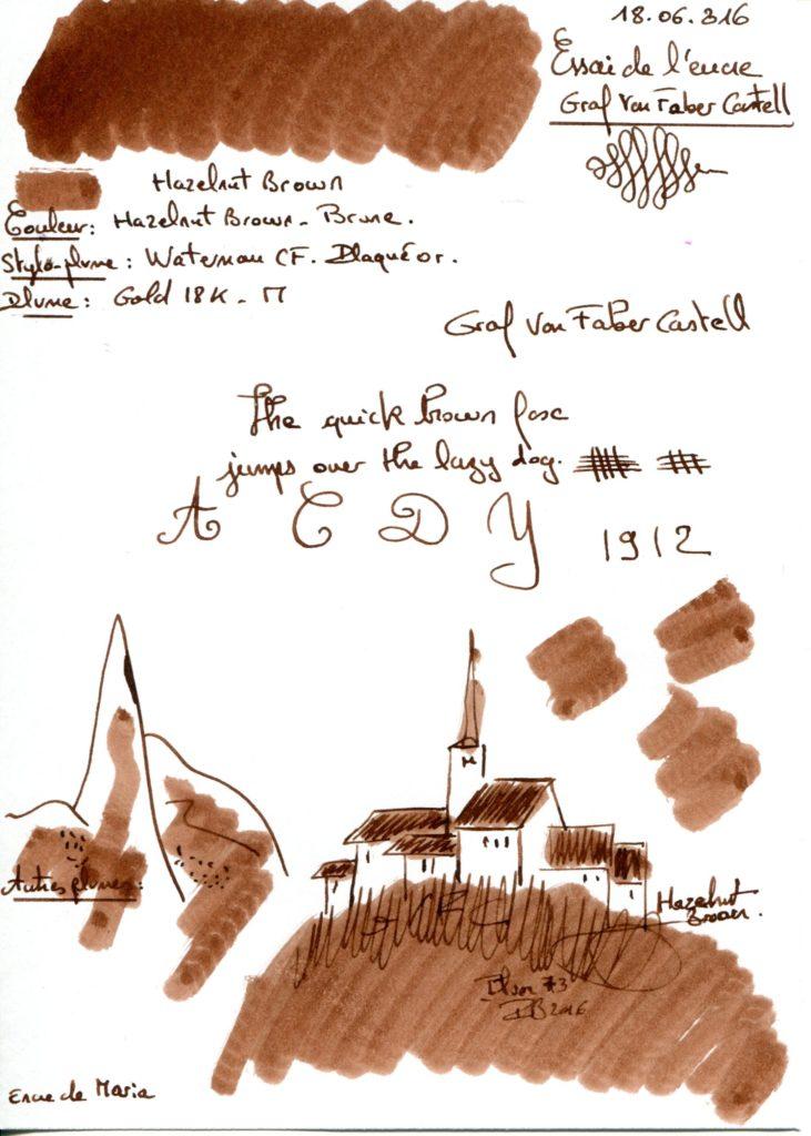 Hazelnut Brown Ink Graf Von Faber Castell