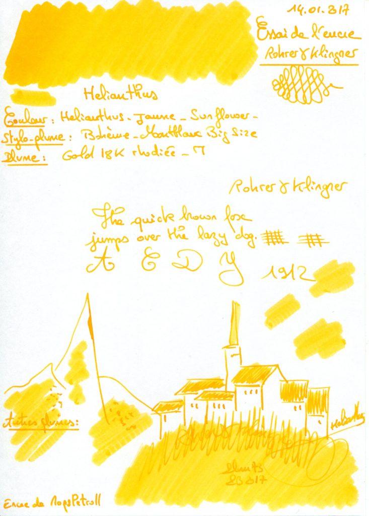 Helianthus Ink Rohrer Klingner