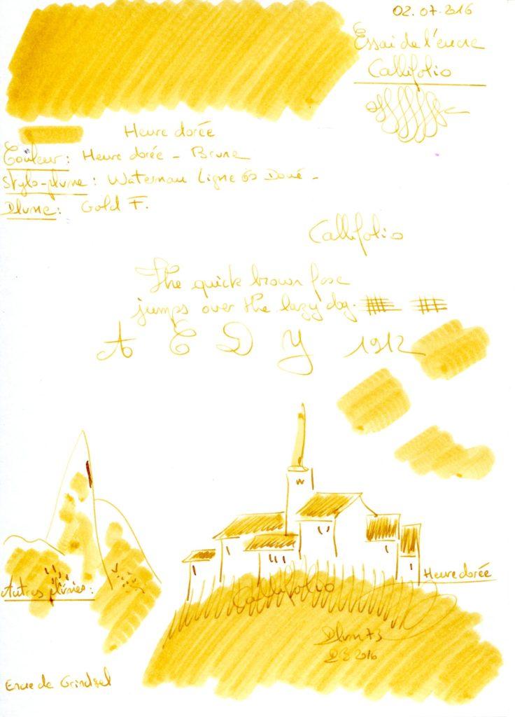 Heure dorée Ink Callifolio