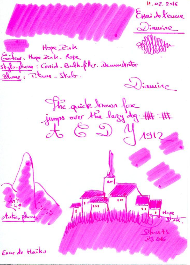 Hope Pink Ink Diamne
