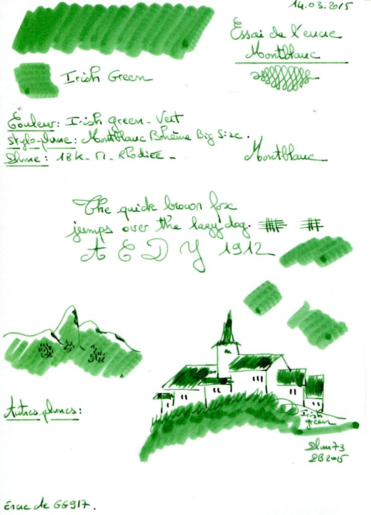 Irish green Ink Montblanc