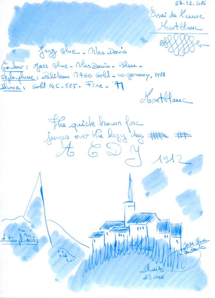 Jazz Blue Miles Davis Ink Montblanc