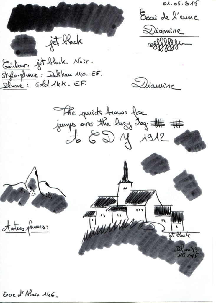 Jet black Ink Diamine