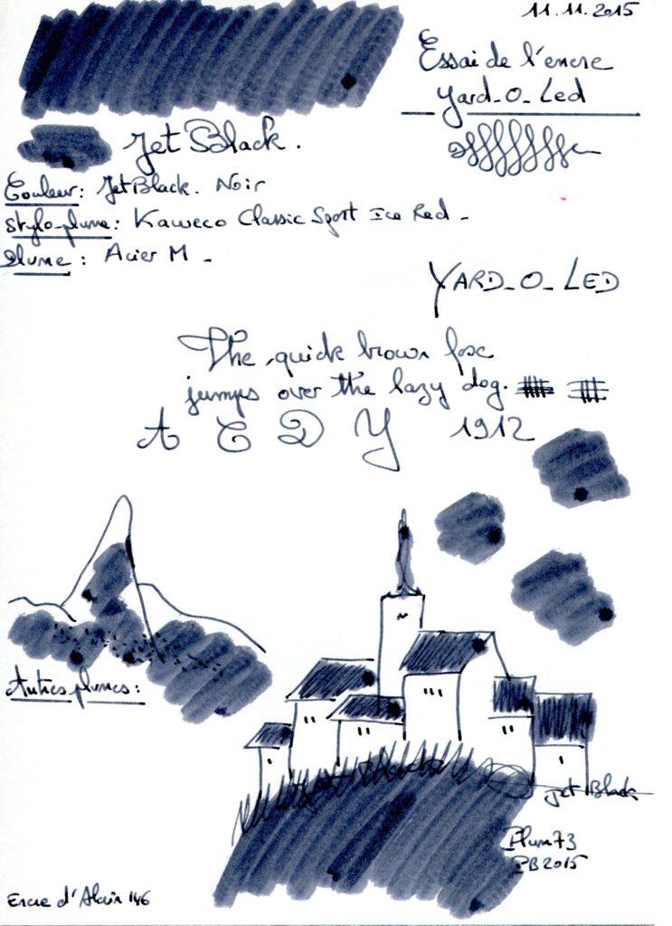 Jet black Ink Yard-o-led