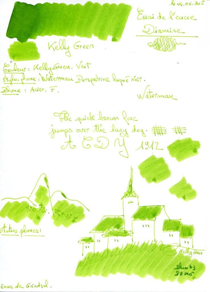 Kelly green Ink Diamine