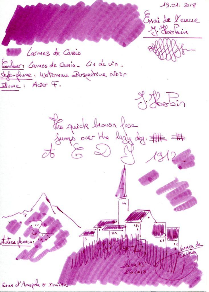 Larmes de Cassis Ink J herbin