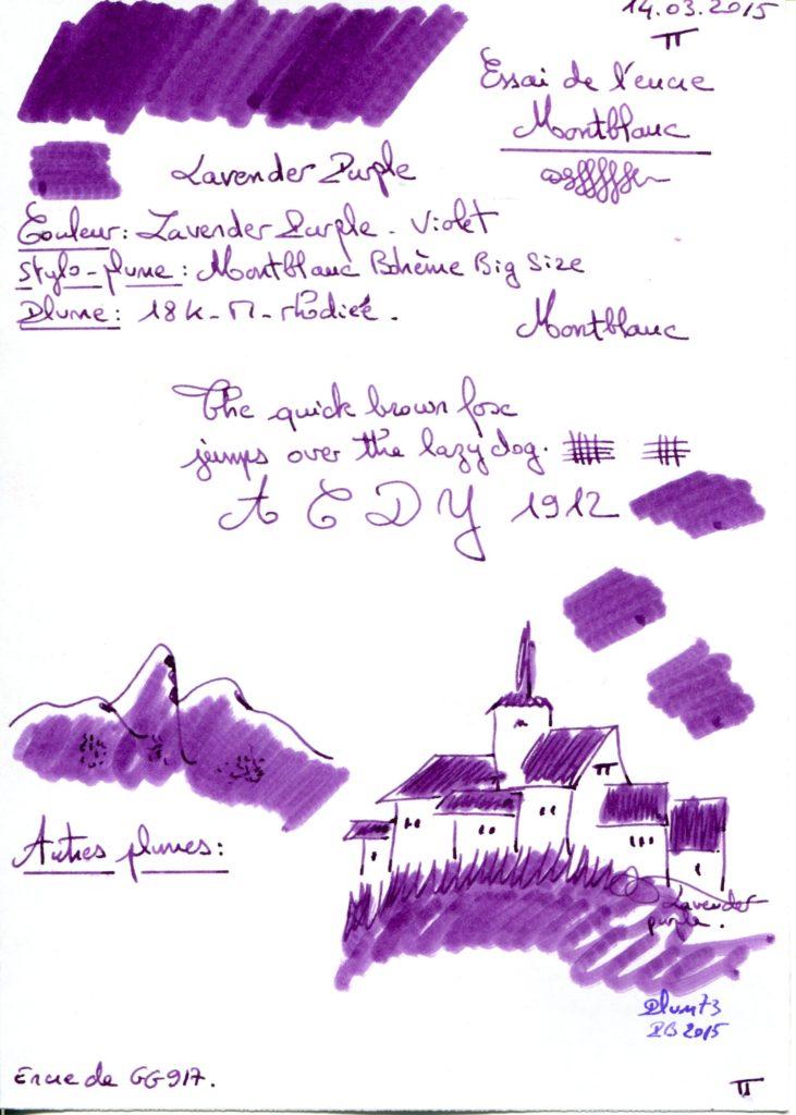 Lavender purple ink Montblanc