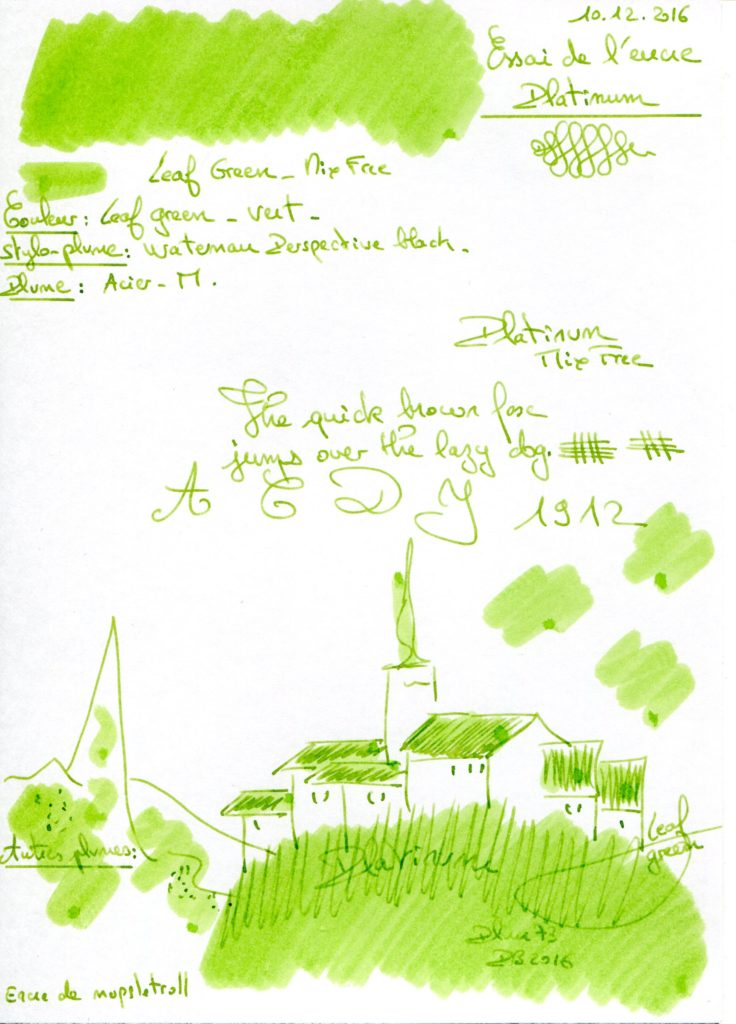 Leaf green Ink Platinum MFree