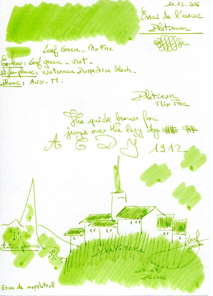 Leaf green Ink Platinum MFree