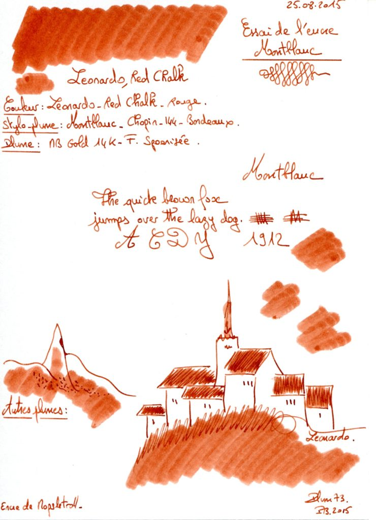 Leonardo Red Chalk Ink Montblanc