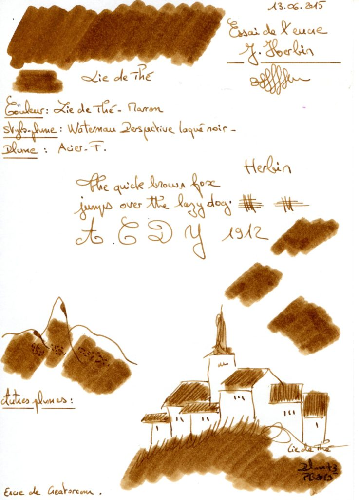 Lie de the ink J Herbin