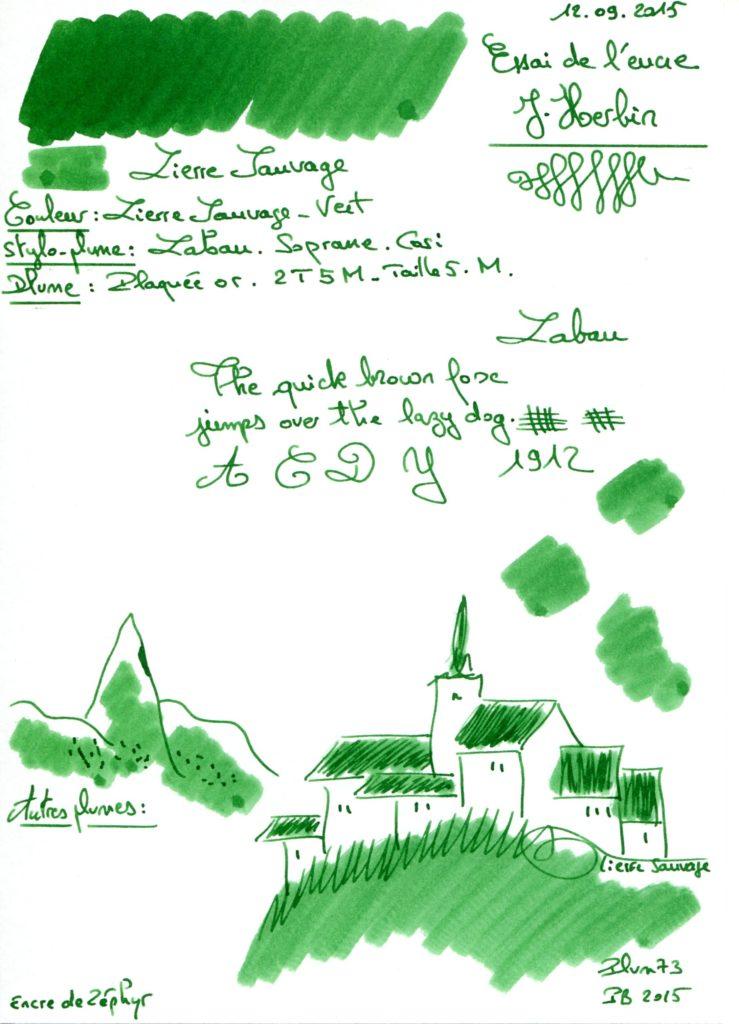 Lierre Sauvage Ink J Herbin