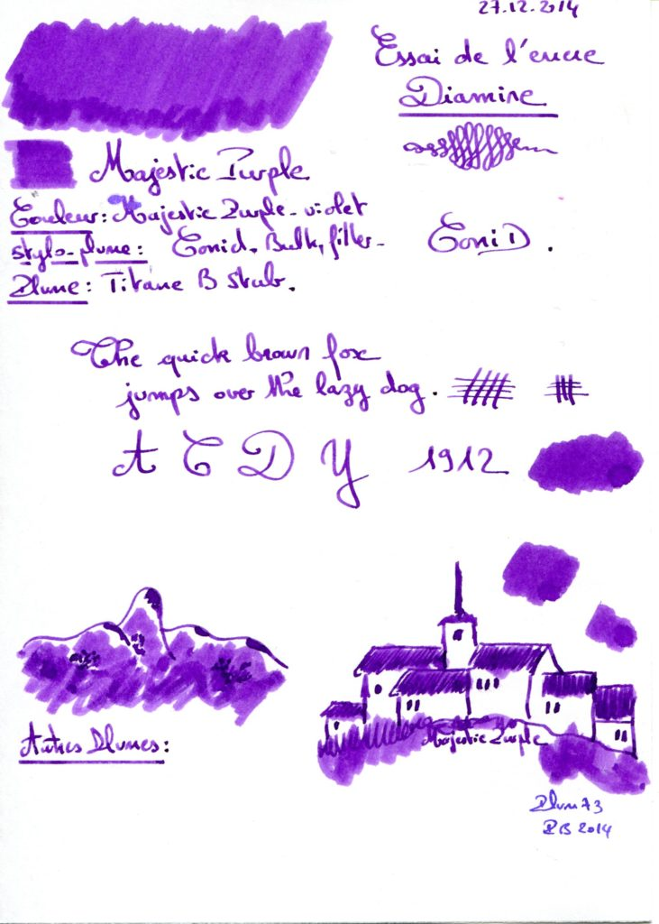 Majestic purple ink Diamine