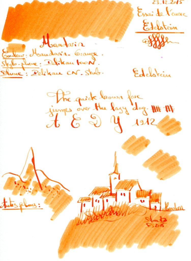 Mandarin Ink Edelestein