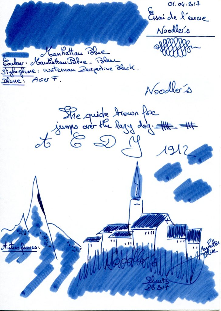 Manhattan Blue Ink Noodlers