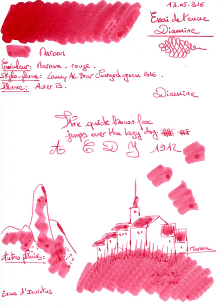 Maroon Ink Diamine