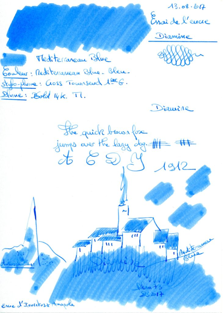 Mediterranean blue Ink Diamine