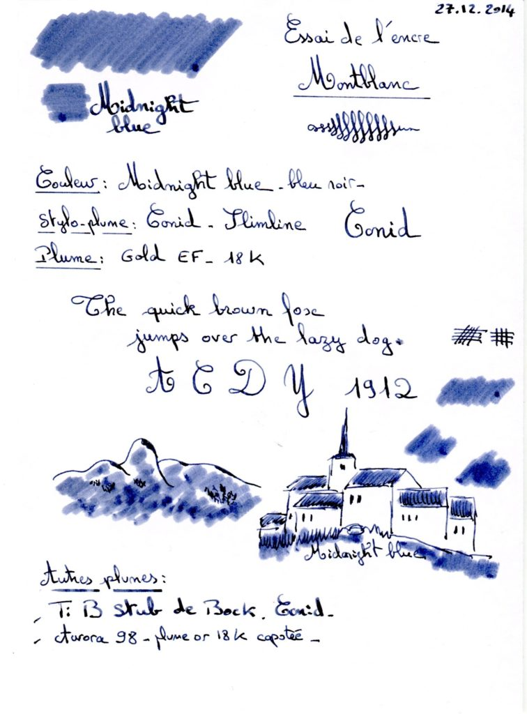 Midnight Blue Ink montblanc 002