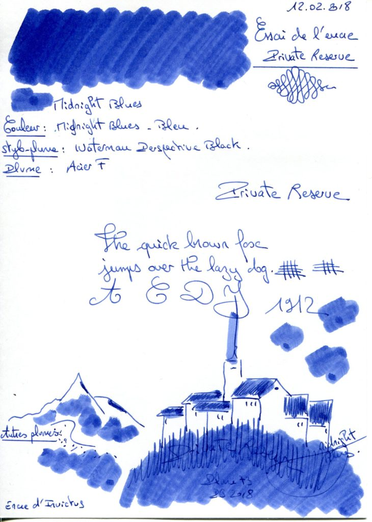 Midnight Blues Ink Private Reserve