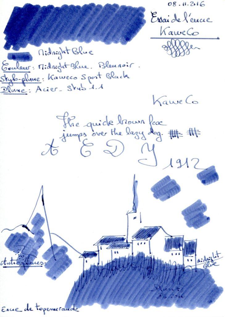Midnight blue Ink Kaweco