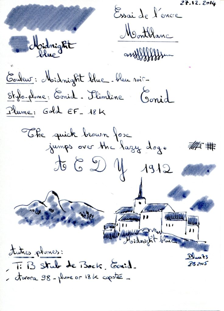 Midnight blue Ink Montblanc 001